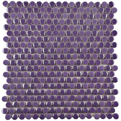 Tucana 0.59 x 0.59 Porcelain Mosaic Tile in Purple