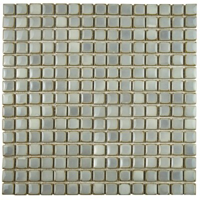 Morgan 0.75 x 0.75 Porcelain Mosaic Tile in Gray Eye