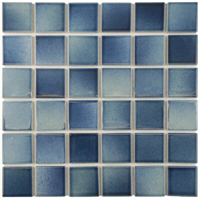Arthur 2 x 2 Porcelain Mosaic Tile in Stream