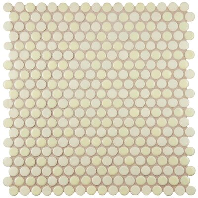 Astraea 0.62 x 0.62 Porcelain Mosaic Tile in Almond