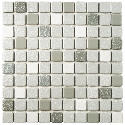 Minerva 1.1 x 1.1 Porcelain Mosaic Tile in Gray