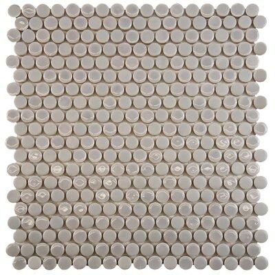 Astraea 0.62 x 0.62 Porcelain Mosaic Tile in Ash