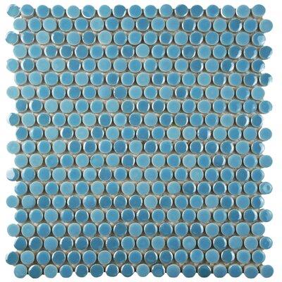 Tucana 0.59 x 0.59 Porcelain Mosaic Tile in Sky
