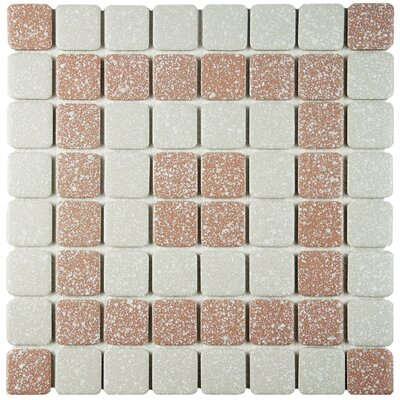 Minerva 1.3 x 1.3 Porcelain Mosaic Tile in Beige