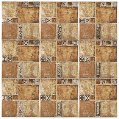 Harald 17.75 x 17.75 Ceramic Field Tile in Beige