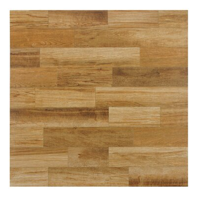 Prospero 17.75 x 17.75 Ceramic Wood Tile in Brown