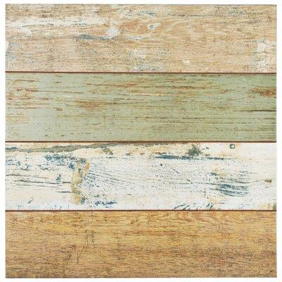Royalty 17.75 x 17.75 Ceramic Wood Look Tile in Brown/Beige