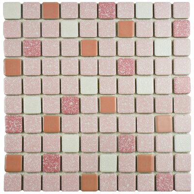 Minerva 1.1 x 1.1 Porcelain Mosaic Tile in Pink