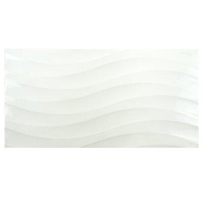 Silhouette 12.38 x 24.88 Ceramic Field Tile in White