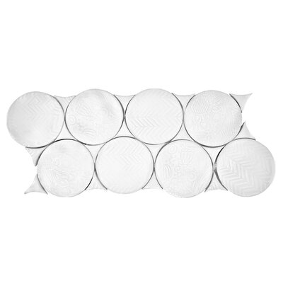 Kees Porcelain Mosaic Tile in White