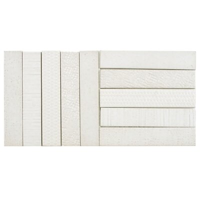 Loggo 2 x 10 Porcelain Mosaic Tile in White