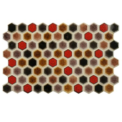 Genoa 9 x 5.5 Porcelain Mosaic Tile in Brown