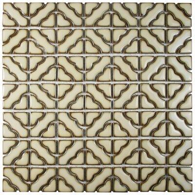 Jericho Porcelain Mosaic Tile in Beige