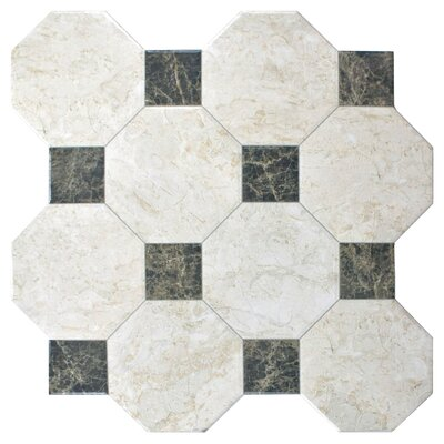 Opalo 17.75 x 17.75 Ceramic Field Tile in White/Gray