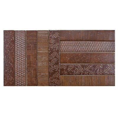 Loggo 2 x 10 Porcelain Mosaic Tile in Brown