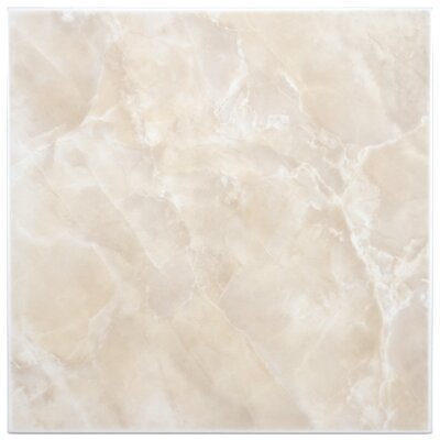Alpha 11.75 x 11.75 Ceramic Field Tile in Beige/White