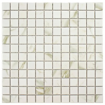 Oxford 0.9 x 0.9 Porcelain Mosaic Tile in White