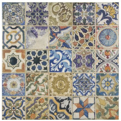 Obila 12.5 x 12.5 Ceramic Tile in Blue/Brown