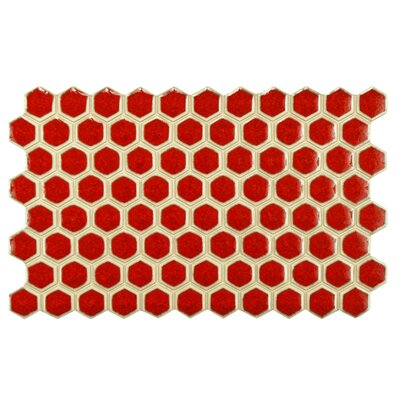 Genoa 9 x 5.5 Porcelain Mosaic Tile in Red