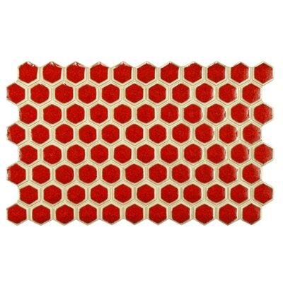 Genoa 9 x 5.5 Porcelain Field Tile in Red