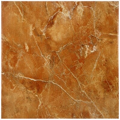 Playa 12.5 x 12.5 Ceramic Field Tile in Siena Brown