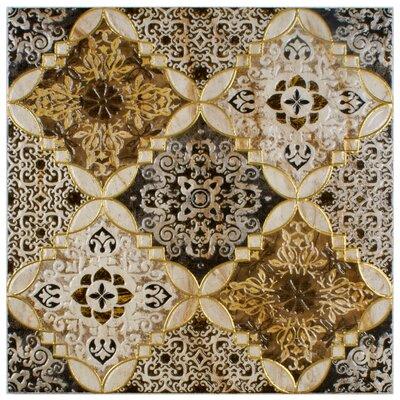 Dane 17.75 x 17.75 Decor Ceramic Field Tile in Brown