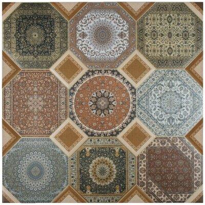 Jaffar 23.63 x 23.63 Ceramic Field Tile in Brown/Orange/Blue