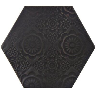 Caprichos 5 x 4 Porcelain Field Tile in Black