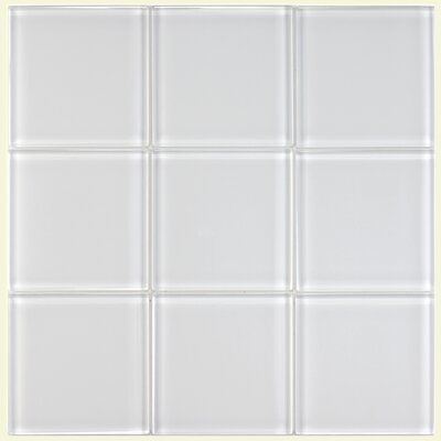 Sierra 4 x 4 Glass Field Tile in Ice White