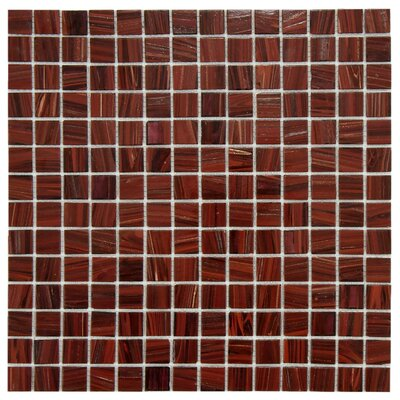 Fused 0.75 x 0.75 Glass Mosaic Tile in Auburn