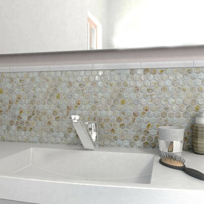 Shore 0.96 x 0.96 Seashell Mosaic Tile in Natural shell