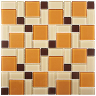 Ambit Glass Mosaic Tile in Suntan
