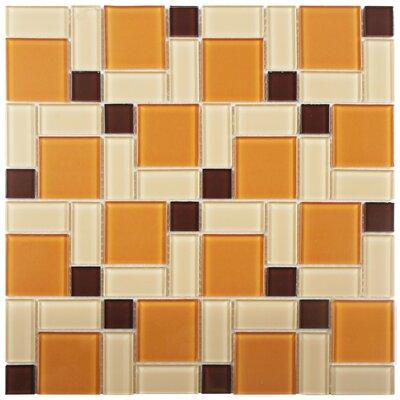 Ambit Glass Mosaic Tile in Suntan