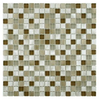 Commix 1 x 1 Glass/Aluminum Mosaic Tile in Lorraine