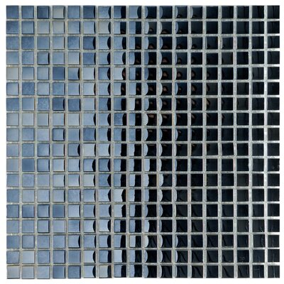 Sable 0.625 x 0.625 Glass Mosaic Tile in Black Mirror