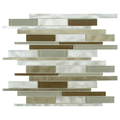 Commix Random Sized Glass/Aluminum Mosaic Tile in Lorraine