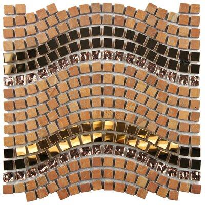 Sierra 0.563 x 0.563 Glass/Stone/Metal Mosaic Tile in Polished Metallics