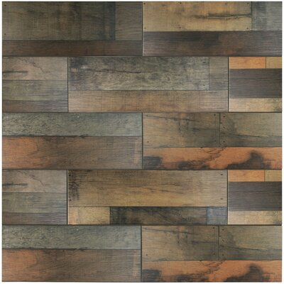 Lena 7.88 x 23.63 Ceramic Wood Tile in Mix