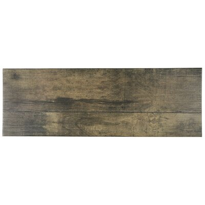 Lena 7.88 x 23.63 Ceramic Wood Tile in Beige
