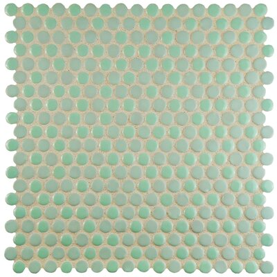 Astraea 0.62 x 0.62 Porcelain Mosaic Tile in Mint