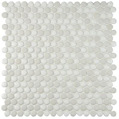 Astraea 0.62 x 0.62 Porcelain Mosaic Tile in White