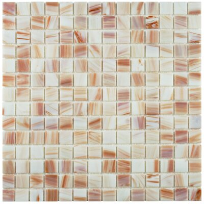 Fused 0.75 x 0.75 Glass Mosaic Tile in Bronze White