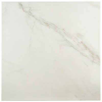 Valens 17.75 x 17.75 Ceramic Wood Tile in Blanco