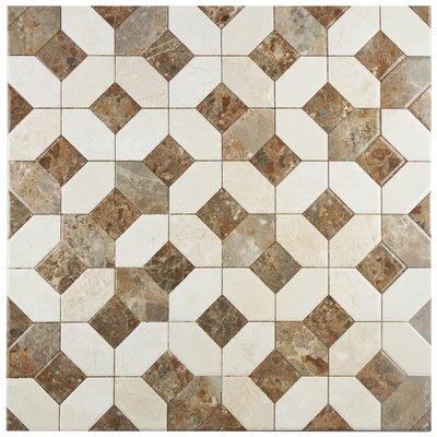 Caprichos 17.75 x 17.75 Ceramic Tile in Marmol Beige