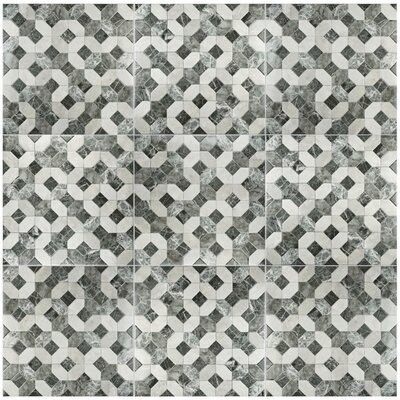 Caprichos 17.75 x 17.75 Ceramic Tile in Marmol Gris