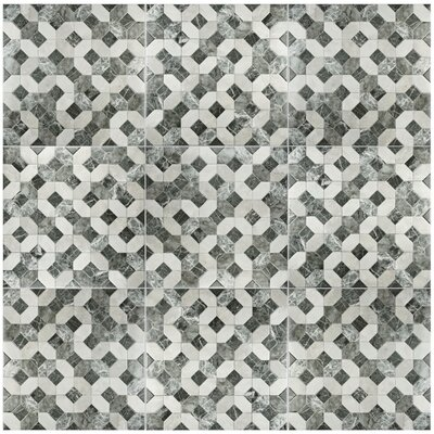 Caprichos 17.75 x 17.75 Ceramic Field Tile in Marmol Gris