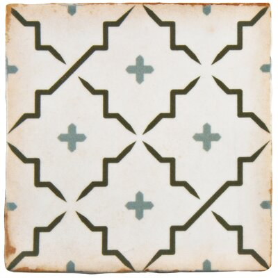 Arquivo 4.88 x 4.88 Ceramic Field Tile in Beige/Dark Gray