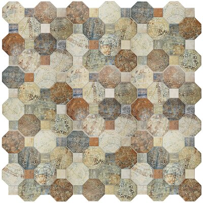 Sileco 17.75 x 17.75 Ceramic Tile in Beige/Brown/Green