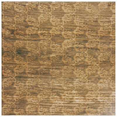 Woodpatch 9.5 x 9.5 Porcelain Wood Tile in Gold