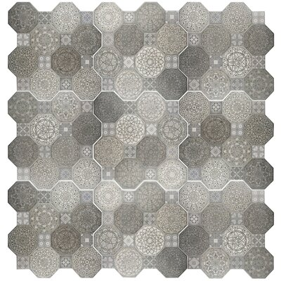 Imagino 17.75 x 17.75 Ceramic Tile in Gray